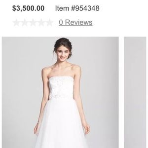 Reem Acra Wedding Tulle Dress